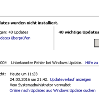Windows Update Fehler Code 80243004
