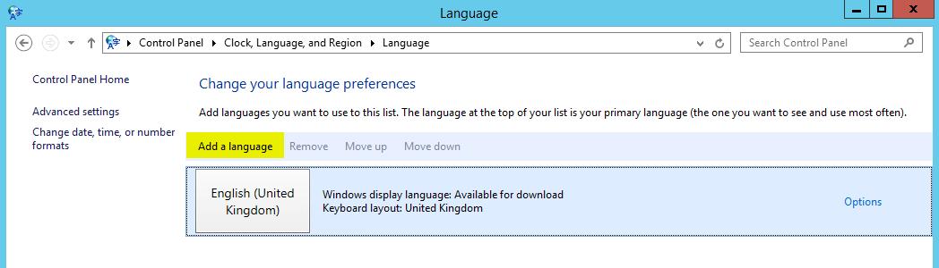 Sprachpakete installieren - Add a language