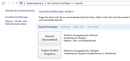 Windows Server 2012 R2 - Sprachpakete installieren