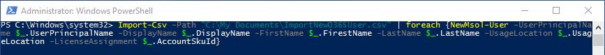 Syntax um Benutzer mit zufälligem Kennwort per PowerShell in Office 365 anzulegen