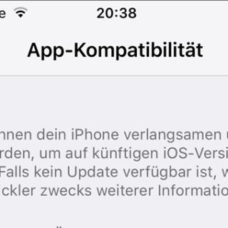 iPhone und iPad auf App-Kompatibilität mit iOS 11 prüfen