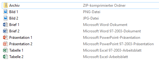 Dateien ohne eingeblendete Dateiendung
