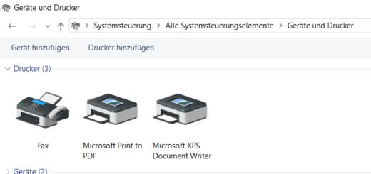 Microsoft Print To PDF in Windows 10 wieder aktivieren