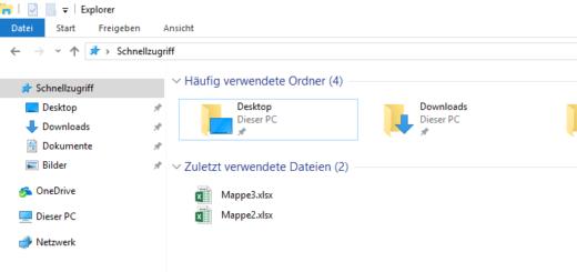 Windows 10: Der Schnellzugriff
