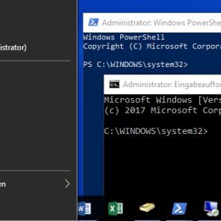 Windows 10: Eingabeaufforderung im WinX-Menü anzeigen