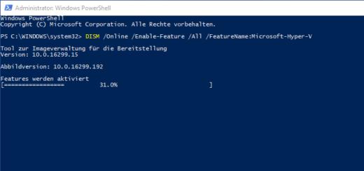 Hyper-V unter Windows 10 aktivieren