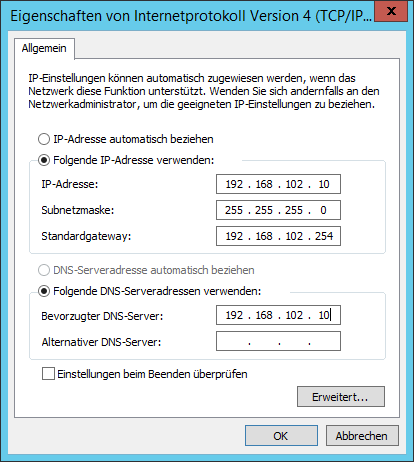 IP-Adresskonfiguration