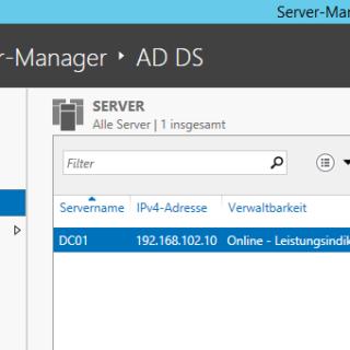 Active Directory-Domänendienste unter Windows Server 2012 R2 installieren und konfigurieren