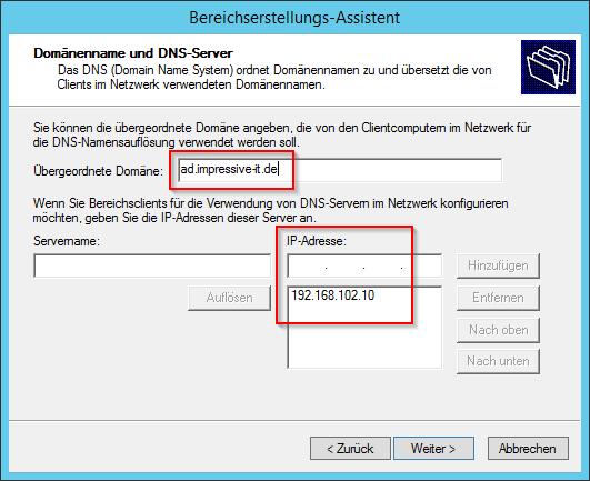 DNS-Server angeben