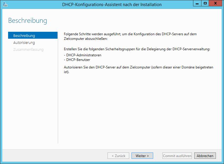 DHCP-Konfiguration