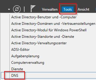 DNS-Manager öffnen
