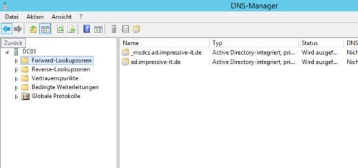 DNS-Server unter Windows Server 2012 R2 konfigurieren