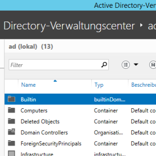 Active Directory-Papierkorb unter Windows Server 2012 R2 aktivieren