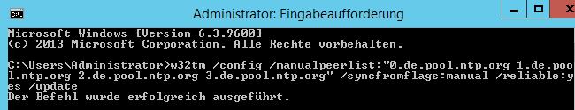 """Externe Zeitserver auf dem DC mit der FSMO-Rolle """"PDC-Emulator"""" konfigurieren"""