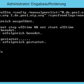 Uhrzeit unter Windows Server 2012 R2 mit einem externen Zeitserver synchronisieren