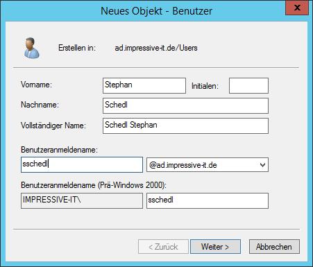 Der Prä-Windows 2000 Benutzeranmeldename ist auf 20 Zeichen limitiert