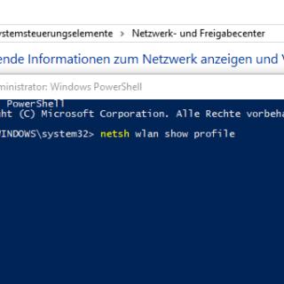 WLAN Passwort mit der PowerShell oder CMD auslesen