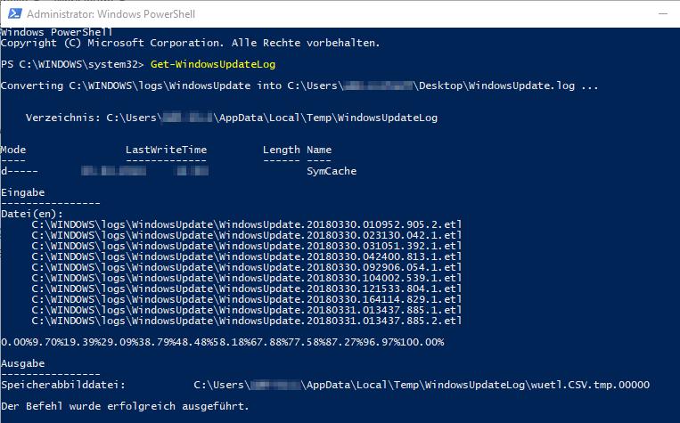 ETL-Dateien werden konvertiert