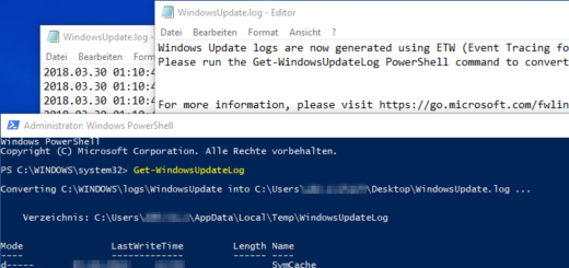 WindowsUpdate.log unter Windows 10