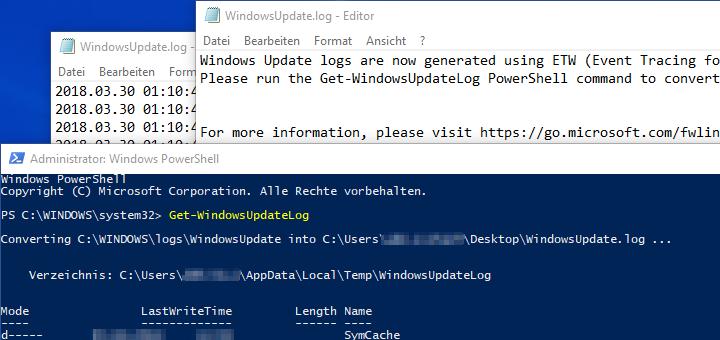 Windows Log Dateien