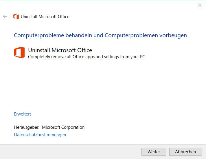 Microsoft Office vollständig deinstallieren