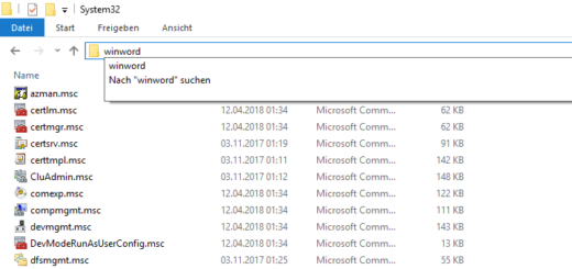 Windows 10: Programme per Explorer starten